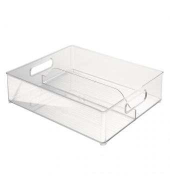 InterDesign Fridge and Freezer Storage Bin, 12-Inch by 4-Inch by 14.5-Inch, Clear