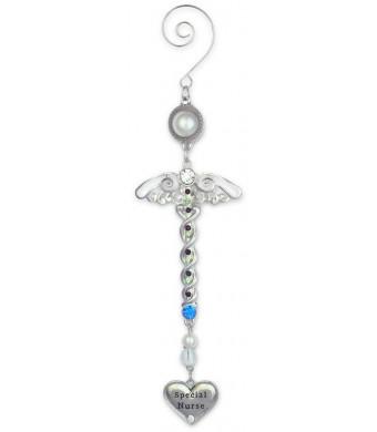 Nurse Ornament -- Metal Filigree and Jeweled Caduceus Hanging Ornament -- Nurse Gifts, Nurse Practitioner, Nurses Aide, School Nurse