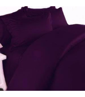 Elegant Comfort 1500 Thread Count Egyptian Quality 4-Piece Bed Sheet Sets, Queen, Deep Pockets, Purple