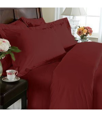 Elegant Comfort 4-Piece 1500 Thread Count Egyptian Quality Bed Sheet Sets with Deep Pockets, King, Burgundy