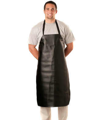 Heavy Duty Vinyl Waterproof Apron- Black