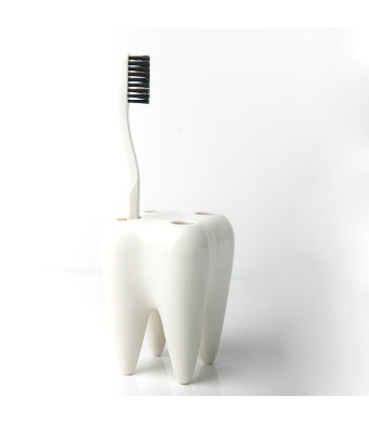 Propaganda Toothbrush Holder - Tooth - White