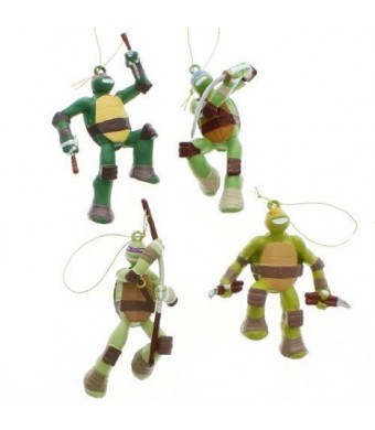 Teenage Mutant Ninja Turtles Blow Mold Ornament Set Of 4
