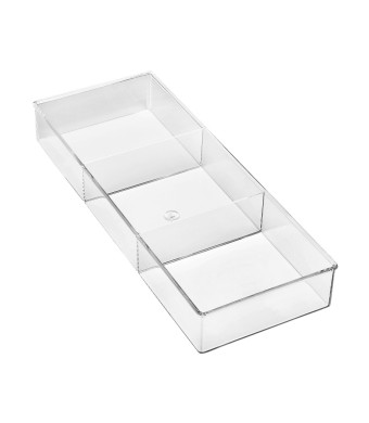 Whitmor 6789-3067 3-Section Clear Drawer Organizer, Small
