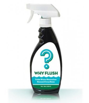 Why Flush: Urine Neutralizer Toilet Spray (3 Bottles/6 mo Supply). Conserve Water! Reduce Flushing!