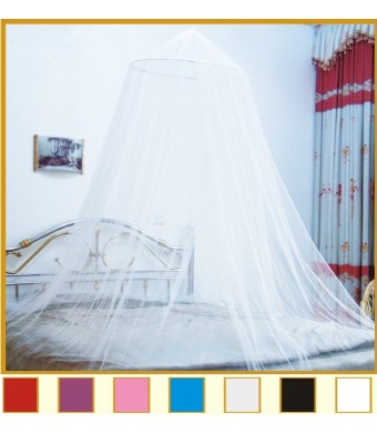 Octorose  Round Hoop Bed Canopy Netting Mosquito Net Fit Crib, Twin, Full, Queen, King (Buttercream)