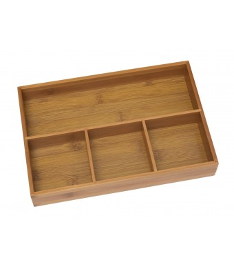 Lipper International 4-Compartment Organizer Tray, Bamboo