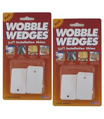 Soft White Plastic Wobble Wedges / Leveling Shims, 12-Pieces