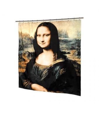 Carnation Home Fashions Mona Lisa Fabric Shower Curtain