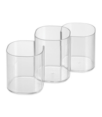 InterDesign Clarity Cosmetic Organizer Trio Cup