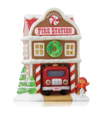 Fire Station 9th In The Noelville Series - 2014 Hallmark Keepsake Ornament