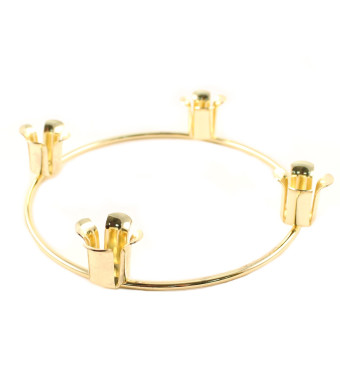 Brass Advent Ring Candle Holder