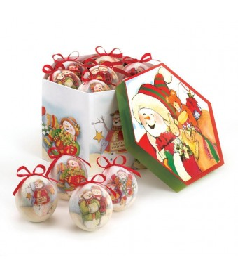 CHARMING SNOWMAN ORNAMENT SET - 10016080