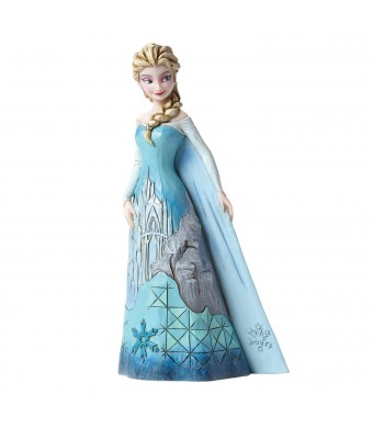 Disney Traditions Frozen Elsa with Ice Castle Dress Figurine