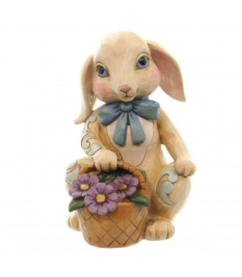 Heartwood Creek Easter Hopeful Hopping Pint Sized Bunny with Basket