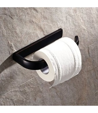 Black Oil Rubbed Bronze Finish Half Open Toilet Roll Paper Rail Holder Wall Mounted Brass Material Convenient Toilet Tissue Single Rail Holder