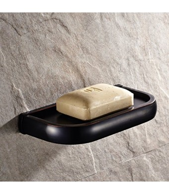Traditional Design Bathroom Wall Mount Brass Material Soap Dish Holder Soap Shelf for Soaps Set Mounted with Concealed Screws (Oil Rubbed Bronze)