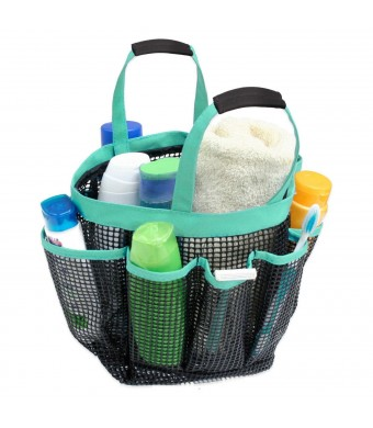 Premium Plus Quality Fashion Shower Caddy Tote Bag - Large 7 Pocket Caddy - With Quick Dry Technology and Mold and Mildew Resistant Protection