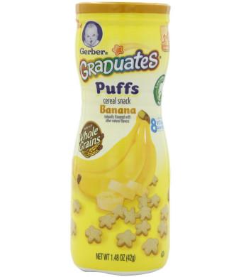 Gerber Graduates Puffs, Banana, 1.48-Ounce (pack of 6)