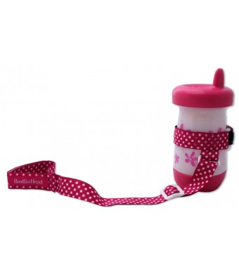 BooginHead SippiGrip in Pink Polka Dot (Discontinued by Manufacturer)