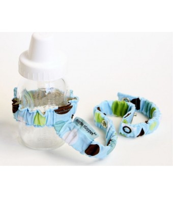Sister Chic Dropper Stopper Sippy Cup and Tether Toy, Sky Dot
