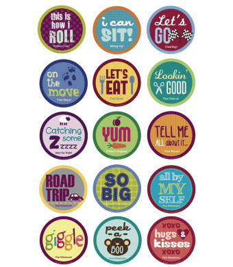 Belly Banter Baby's 1st MILESTONES Stickers-15 Stickers in a set