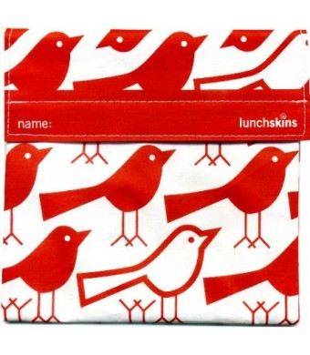 Lunchskins Reusable Sandwich Bag, Red Bird