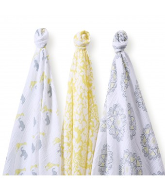 SwaddleDesigns SwaddleLite, Lush Lite, Yellow (Set of 3)
