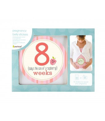 Pearhead Pregnancy Milestone Stickers, Multi