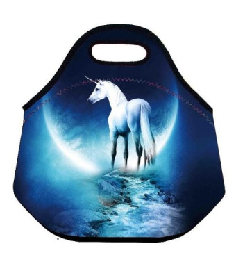 White Horse Universal Neoprene Sleeve Lunch bag Insulated warm/cold lunchbox Cooler Pouch Shopper Tote baby Portable Fashion Waterproof Cover Kids Ha