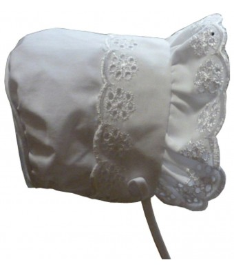 N'Ice Caps Baby Girls Closed Back Bonnet with Piping