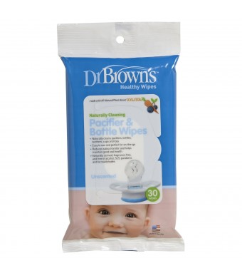 Dr. Brown's Pacifier and Bottle Wipes, 30 Count