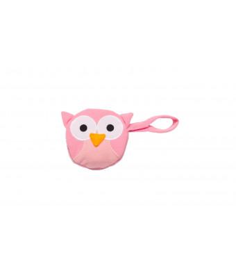 J.L. Childress Pacifier Pal Pacifier Pocket, Pink Owl