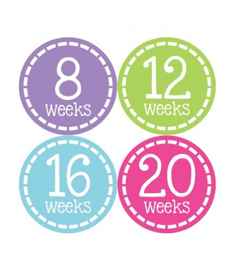 Months In Motion 906 Pregnancy Baby Bump Belly Stickers Maternity Week Sticker
