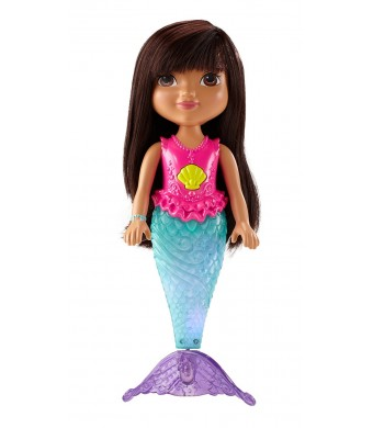 Fisher-Price Nickelodeon Dora and Friends Sparkle and Swim Mermaid Dora Toy