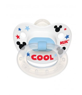NUK Disney Baby Mickey Mouse Puller Pacifier in Assorted Colors and Styles, 0-6 Months