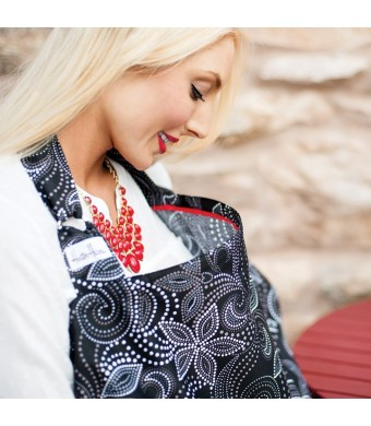 Hooter Hiders Premium Cotton Nursing Cover - Avignon