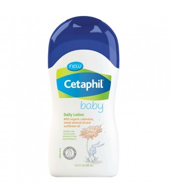 Cetaphil Baby Daily Lotion with Organic Calendula, Sweet Almond Oil and Sunflower Oil, 13.5 Ounce