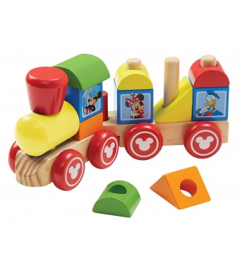 Disney Baby Mickey Mouse and Friends Wooden Stacking Train