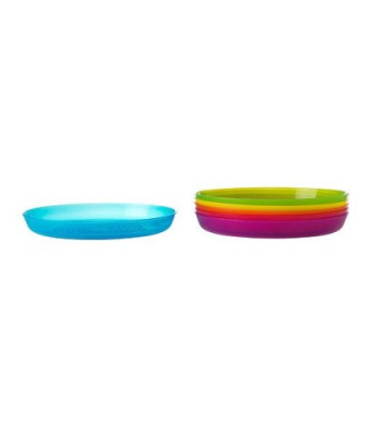 Ikea Kalas 501.929.59 BPA-Free Plate, Assorted Colors, 6-Pack