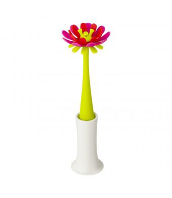 Boon Forb Silicone Bottle Brush, Pink/Orange