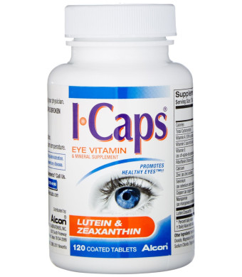 ICaps Lutein and Zeaxanthin Formula, Coated Tablets, 120 coated tablets
