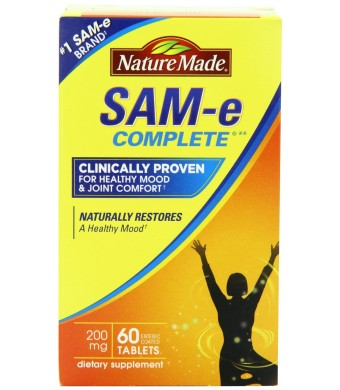 Nature Made SAM-e MoodPlus 200mg Value Size, 60 Tablets