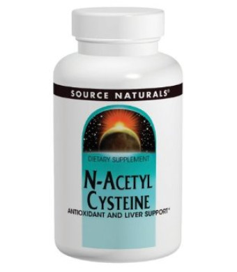Source Naturals N-Acetyl Cysteine 1000mg, 120 Tablets