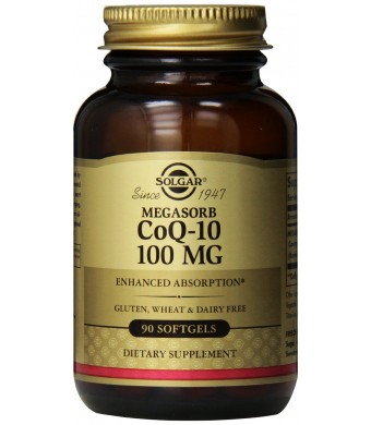 Solgar Megasorb CoQ-10 Softgels, 100 mg, 90 Count