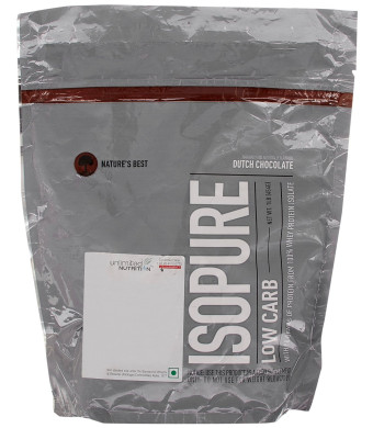 Nature's Best Isopure Protein Powder Low Carb Dutch Chocolate -- 1 lb