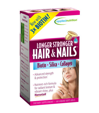 Applied Nutrition Longer, Stronger Hair and Nails, 60-Count