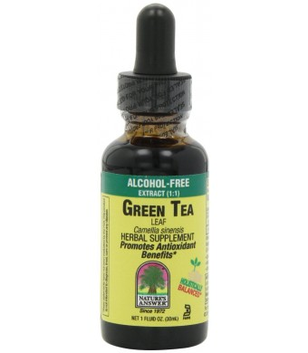 Nature's Answer Alcohol-Free Green Tea Leaf, 1-Fluid Ounce
