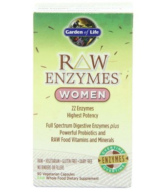 Garden of Life RAW Enzymes Women, 90 Capsules
