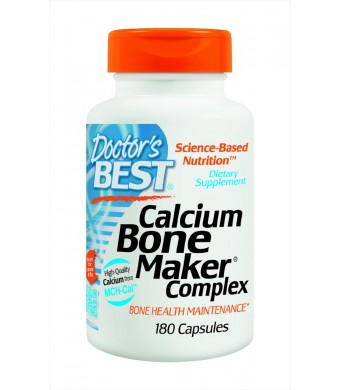 Doctor's Best Calcium Bone Maker Complex, Capsules, 180-Count